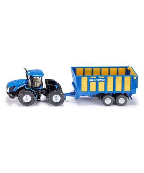 Tractor con vagón de ensilaje