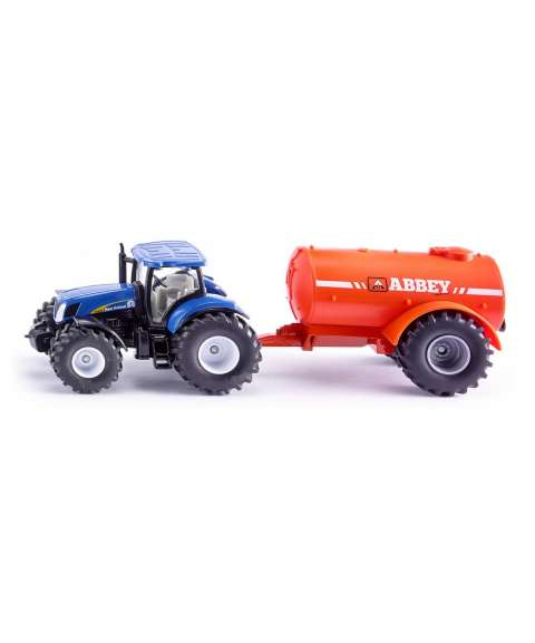 Tractor con camión cisterna...