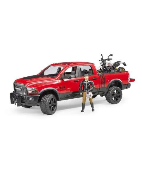 Ram 2500 con moto y muñeco