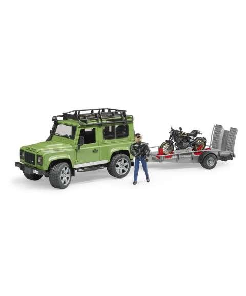 Land Rover + motor+remolque
