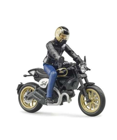 Ducati con muñeco