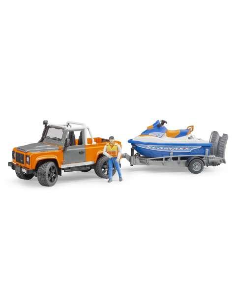 Land Rover Defender +moto agua