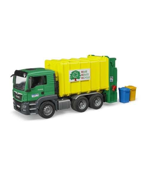 Camion reciclaje amarillo